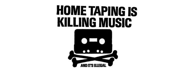 Home taping is killing music - tekijänoikeuskampanjan slogan 1980-luvulta
