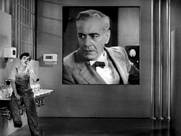 Kuvankaappaus Chaplinin Nykyaika-elokuvasta