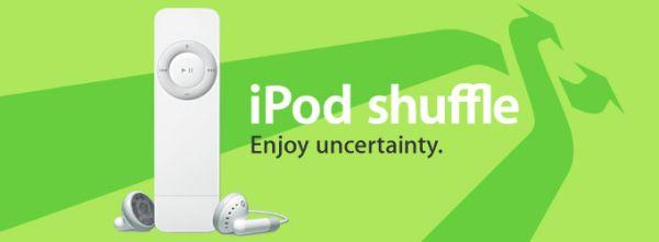 iPod shuffle: Enjoy uncertainty; lisää propagandaa