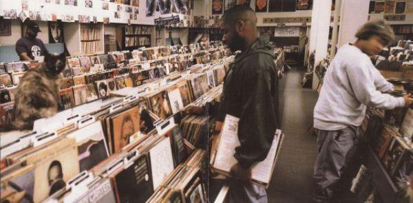 DJ Shadow - Endtroducing...; levyn etu- ja takakansi