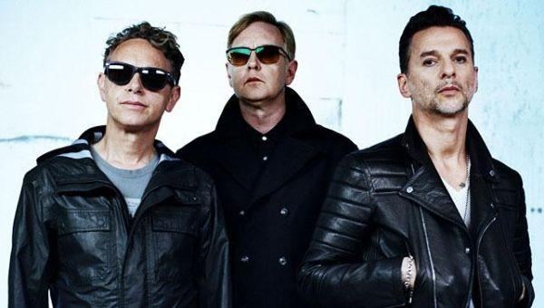 Depeche Mode vuonna 2013: Martin Gore, Andrew Fletcher, Dave Gahan