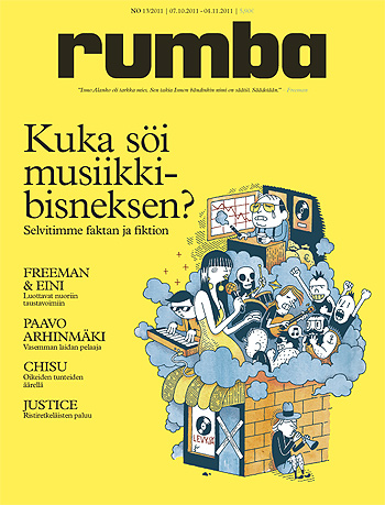 Uudistuneen Rumban ensimmäinen kansi: Kuka söi musiikkibisneksen? (13/2011)