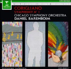 Corigliano/Barneboim/CSO - Symphony No. 1; levynkansi