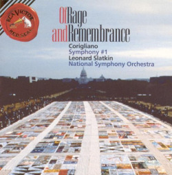 Corigliano/Slatkin/NSO - Of Rage and Remembrance; levynkansi