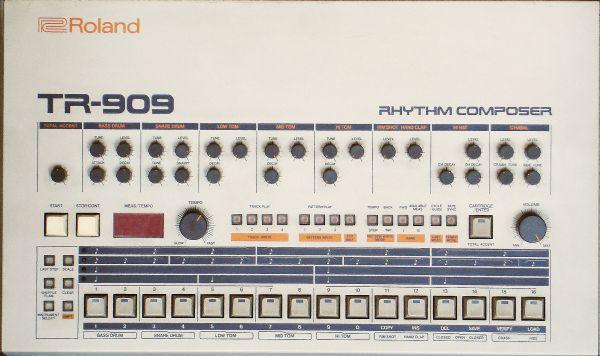 Roland TR-909; etupaneeli