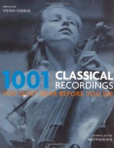 1001 Classical Recordings You Must Hear Before You Die -kirjan Eurooppa-version kansi