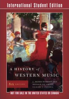 A History of Western Music (8th Edition) -kirjan kansikuva