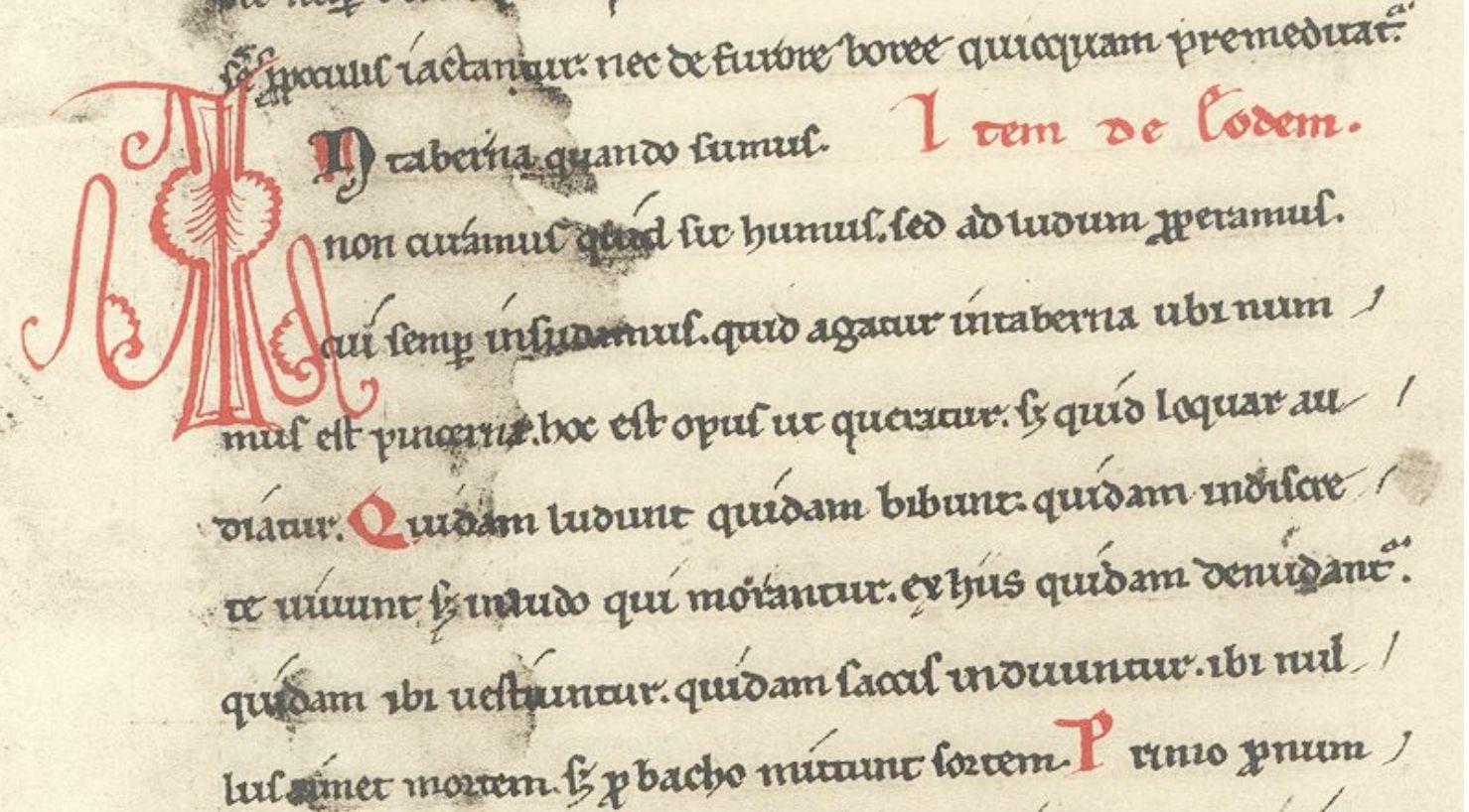 Carmina Burana, folio 87v: In taberna quando sumus, CB 196