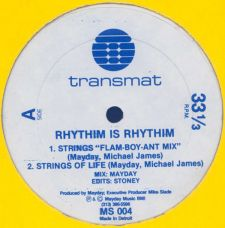 Rhythim Is Rhythim - Strings of Life; 1. painoksen etiketti