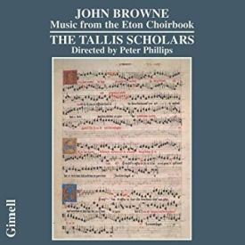 Browne: Music from the Eton Choirbook; levynkansi