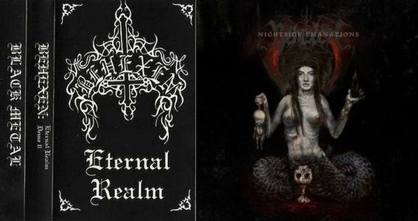 Behexenin 1. demo (Eternal Realm, 1997) ja 4. albumi Nighttime Emanations (2012)