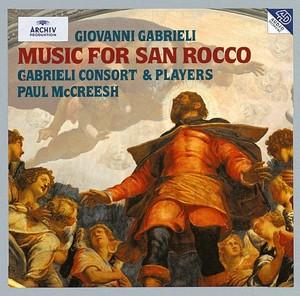 Giovanni Gabrieli - Music for San Rocco; Gabrieli Consortin levytyksen kansikuva