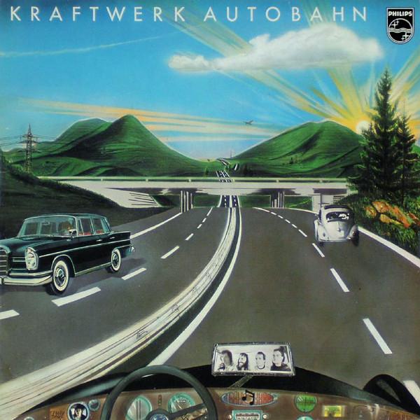 Kraftwerk: Autobahn; levyn alkuperäinen kansikuva