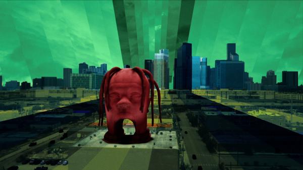 Trevor Scott - Sicko Mode; kuvankaappaus musiikkivideosta